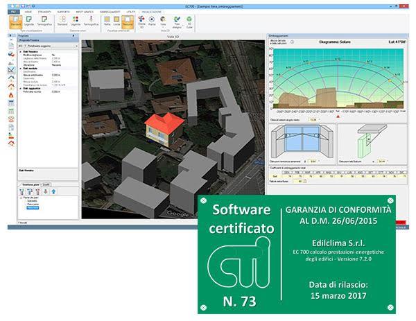 Software ec700 calcolo prestazioni energetiche degli edifici for Software di progettazione di edifici domestici