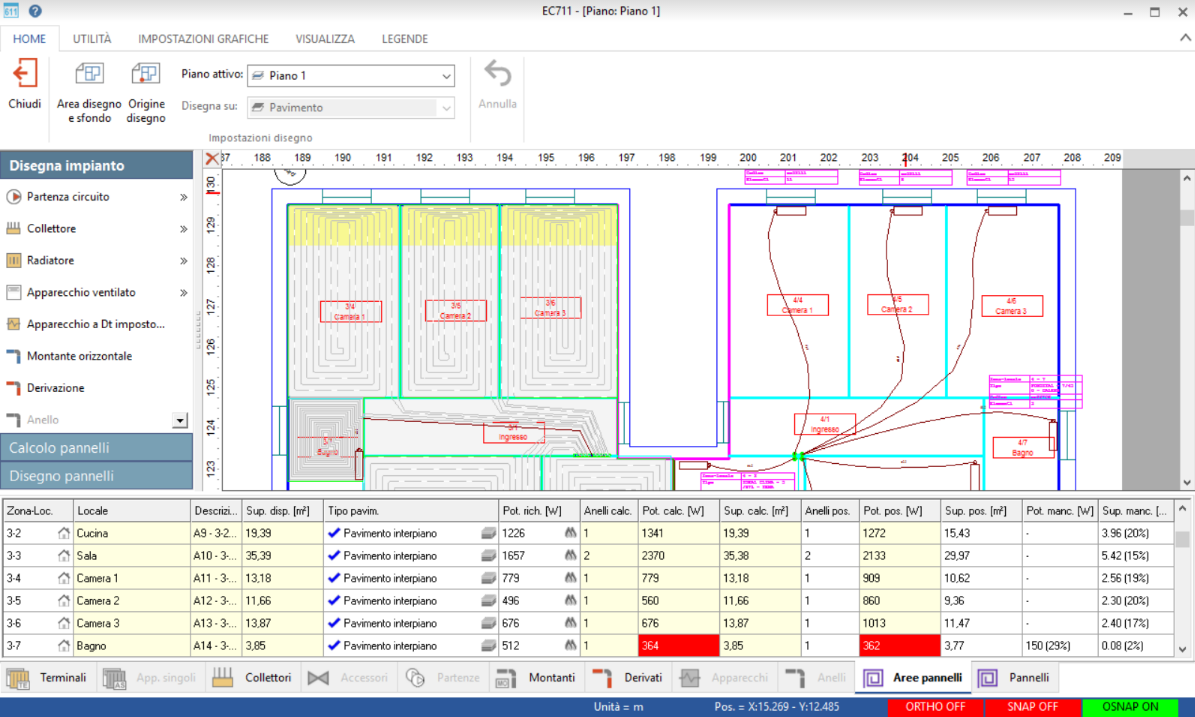 software di calcolo dimensionamento di riscaldamento a pavimento messina