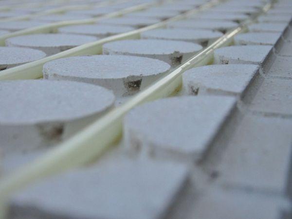 Sistema radiante a pavimento in fibrogesso