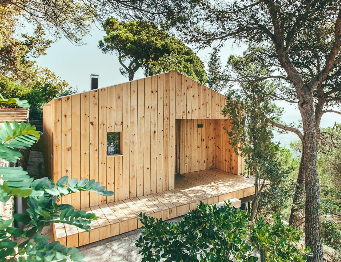 Casa de madera edificio prefabbricato sostenibile - Prefabbricato casa ...