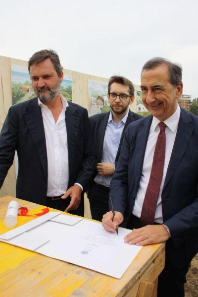 Alessandro Borghi, Pierfrancesco Maran e Giuseppe Sala