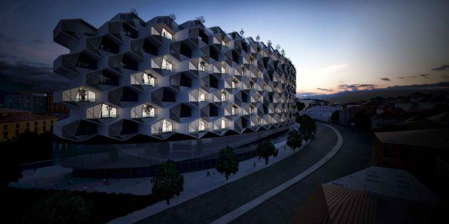 Design futuristico, sintesi di tecnologia e buone pratiche ambientali per il condominio sostenibile Urban Rural