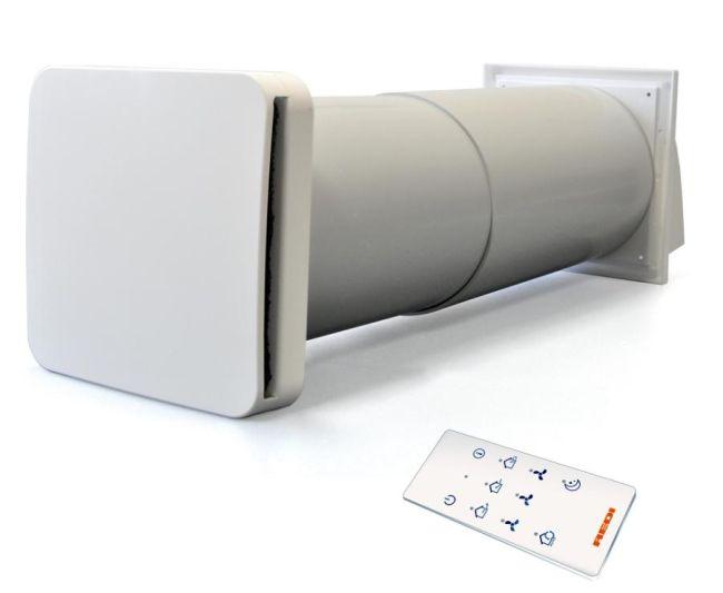 Recupero HC, ventilatore con scambiatore di calore e sensore di umidità