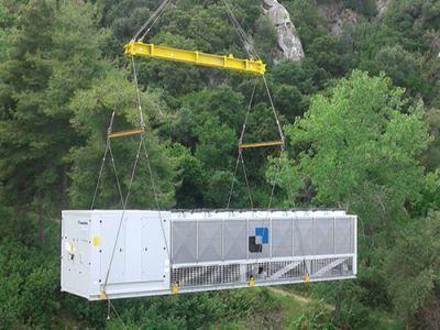 Unità di climatizzazione Climaveneta per un albergo di lusso a Corfù