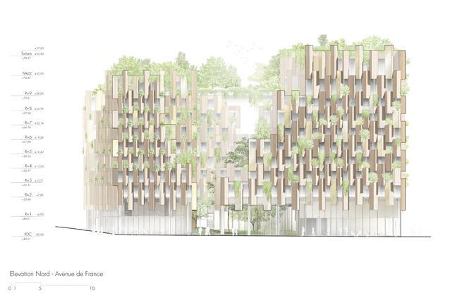 Pianta nord progetto 1Hotel a Parigi firmato Kengo Kuma