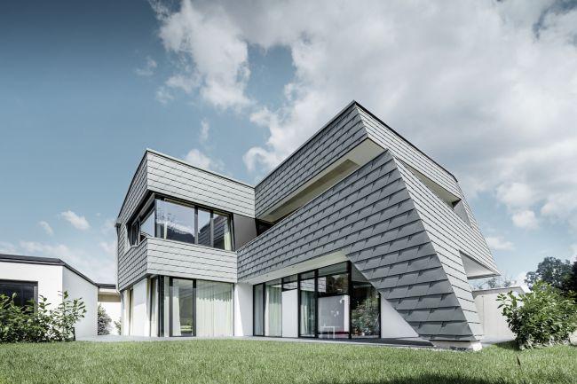 Scandole Prefa per il rivestimento di una villa efficiente realizzata in Austria