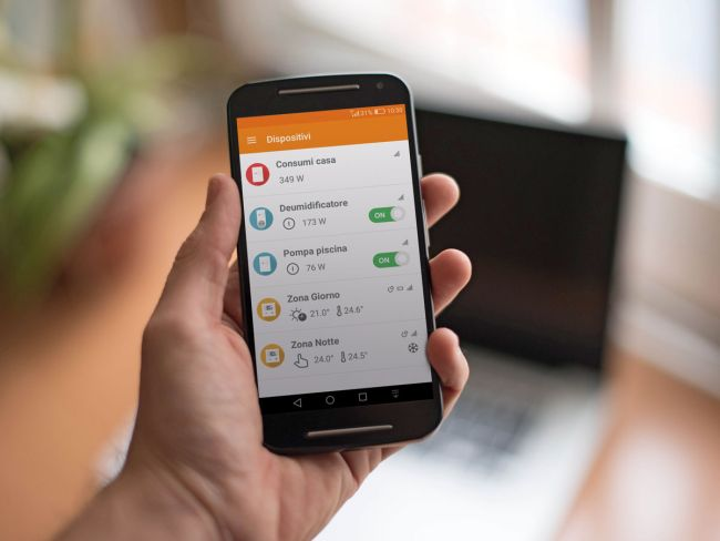 Sistema Rialto Smart Home gestisce tramite App l'energia della propria abitazione