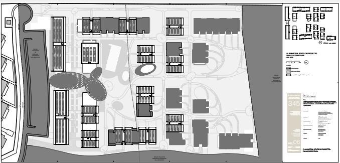 Planimetria impianti di copertura Resort Cavallino