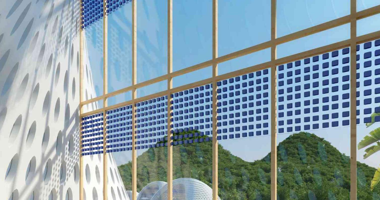 I materiali utilizzati nella costruzione dell'Eco resort Nautilus sono naturali e di riciclo