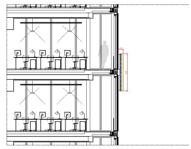 Planimetria Torre Sanpaolo dove è stata posizionata l'insegna luminosa al 30 piano