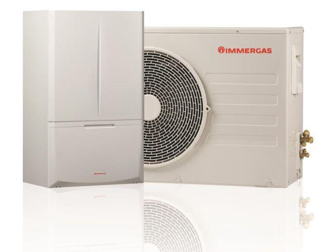Magis combo sistema ibrido Immergas per il riscaldamento e la produzione di acqua calda
