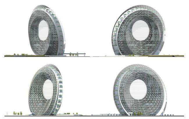 Windwheel, edificio circolare, futuristico e ad alta efficienza energetica
