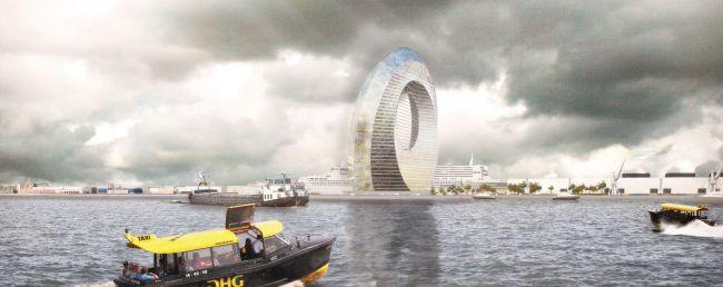 Edificio futuristico e sostenibile Windwheel che sorgerà a Rotterdam