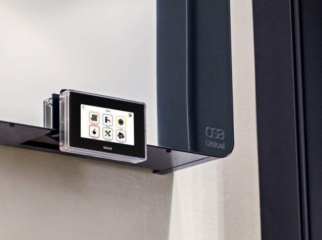 La caldaia Osa mirror si controlla con il sistema soft-touch U-fly