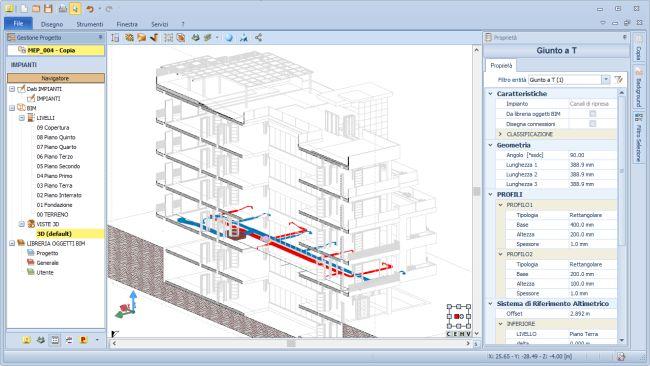 Software edificius-MEP per una visione di insieme del sistema edificio-impianto