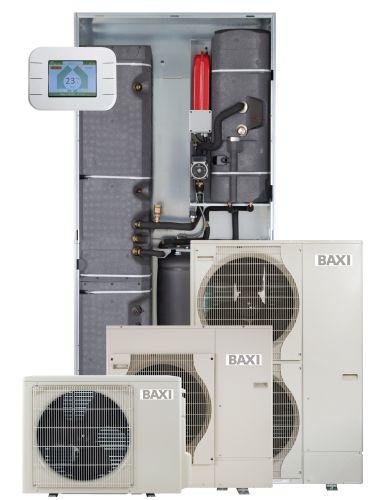 Sistema a incasso Baxi con pompa di calore aria-acqua splittata inverter  CSI IN Split E