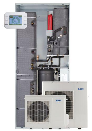 Sistema Baxi CSI IN Idro E, con pompa di calore aria-acqua monoblocco inverter