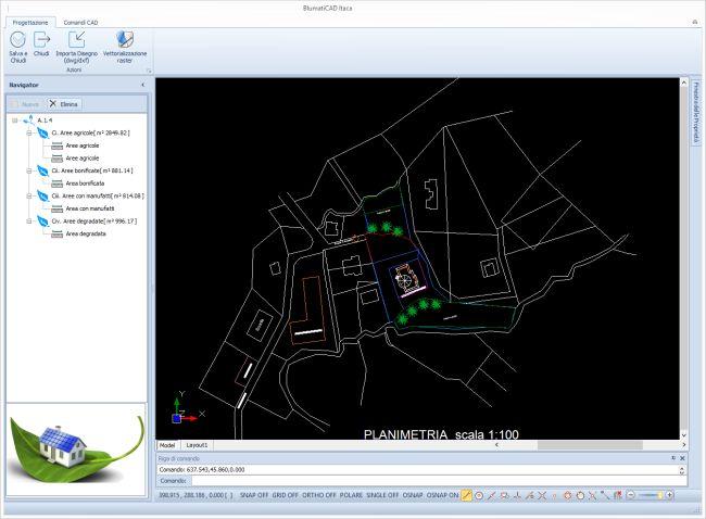 Blumatica Itaca con CAD integrato per la stima dei parametri necessari