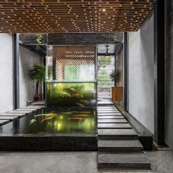Award Winning Green Home Designs: Koi Cafè Ad Hanoi: Il Progetto Green Di Farming Architects