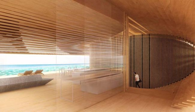 La struttura lignea delle ville Tsubomi a bali assicura privacy e luminosità