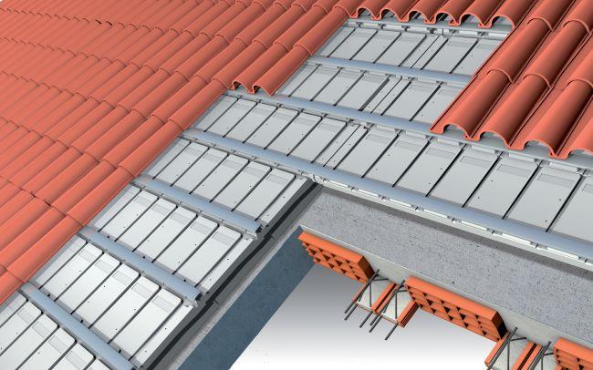 Isolamento per copertura a falda con tetto inclinato in laterocementoo alutech G di Isolconfort