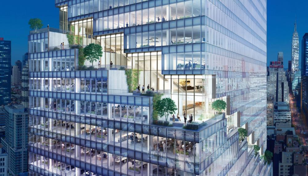 The spiral una torre green al centro di new york
