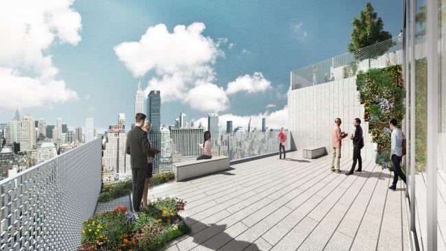 Una delle terrazze del grattacielo The Spiral di New York