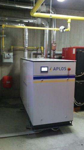 Microcogeneratore Aplos 20 installato in un vivaio in provincia di Bergamo