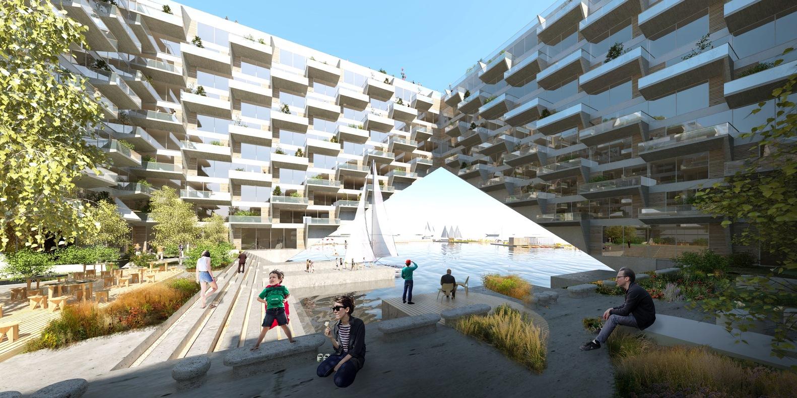 Il nuovo compleaaso Sluishuis di case galleggianti ad Amsterdam