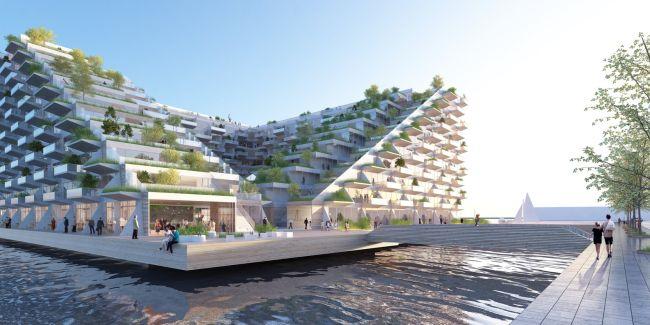 Edificio galleggiante sostenibile Sluishuis ad Amsterdam