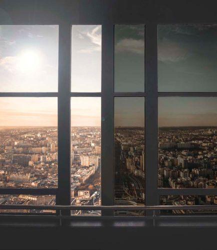 Il vetro a controllo solare Pilkington Suncool Dynamic che si scurisce all'aumentare dell'irraggiamento