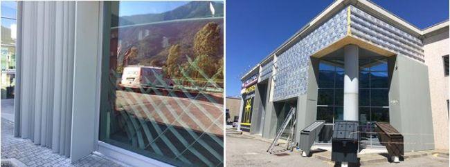 Le fasi della posa di ISOTEC PARETE sull'edificio Nieder e del rivestimento metallico sulla facciata