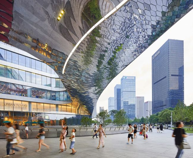 Il nuovo progetto Raffles City è un centro urbano sostenibile ad Hangzhou