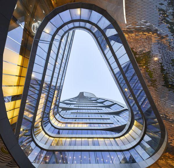 Il nuovo progetto Raffles City è un centro urbano sostenibile dentro la città di Hangzou