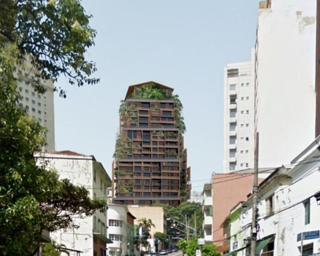 La torre Rosewood Tower in costruzione a San Paolo