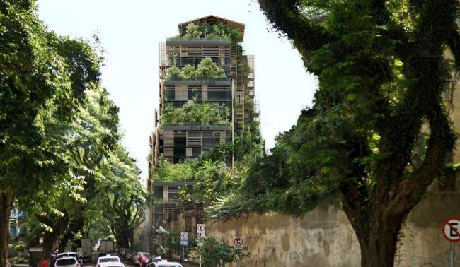 Le piante che caratterizzano la torre torre Rosewood Tower a San Paolo