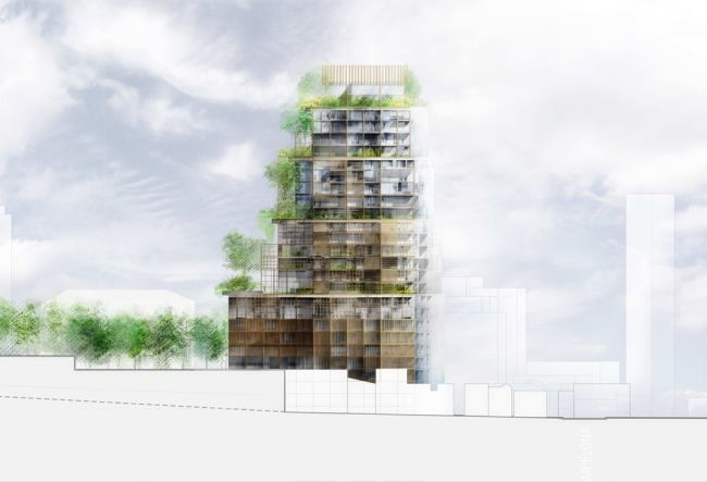 Pianta progetto torre Rosewood Tower a San Paolo