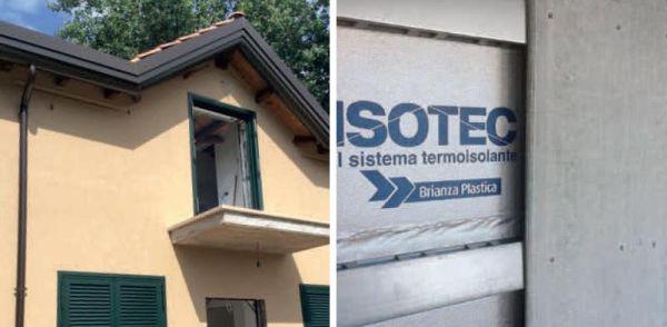Soluzione Brianza Plastica di facciata isolata con estetica tradizionale Elycem + Isotec