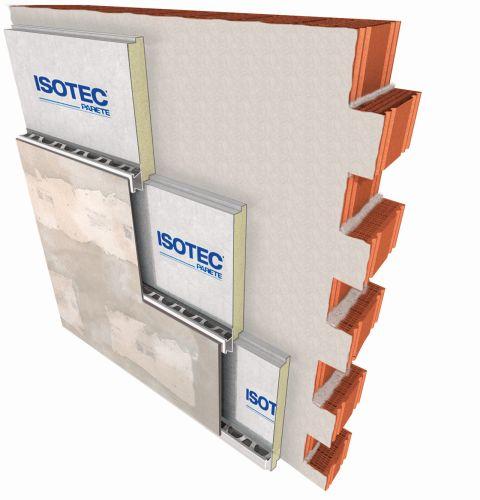 Soluzione Brianza Plastica di facciata isolata Elycem + Isotec parete