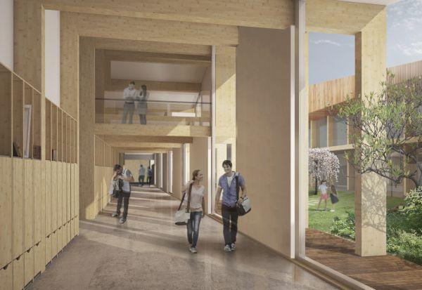 Il nuovo polo scolastico Cascina della Conoscenza realizzato in legno
