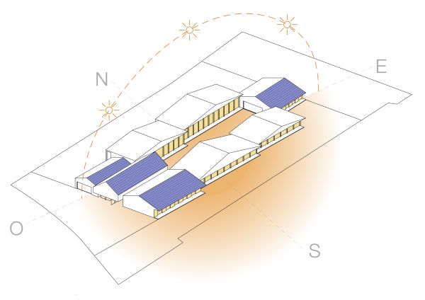 Pannelli fotovoltaici sul tetto del nuovo polo scolastico Cascina della Conoscenza