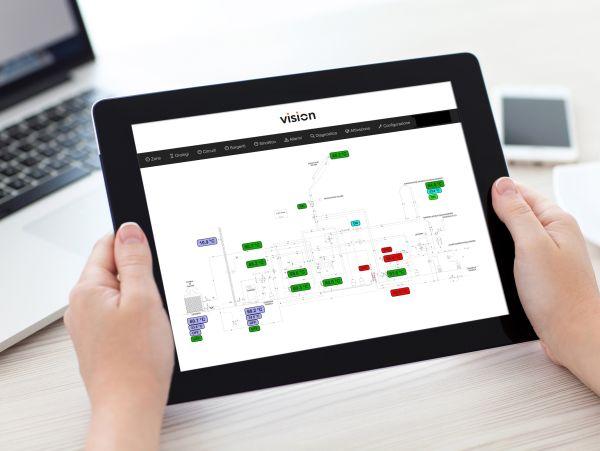 Sistema digitale Vision di Atag per la gestione degli impianti