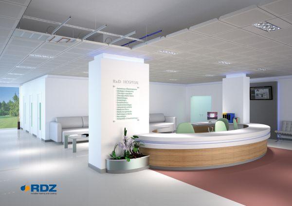 Sistema radiante a soffitto di RDZ per ambienti di lavoro
