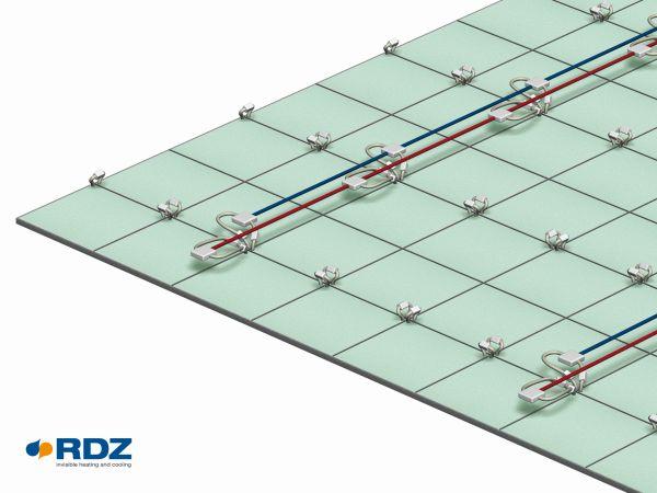 La serpentina radiante è il cuore della tecnologia b!klimax+ di RDZ