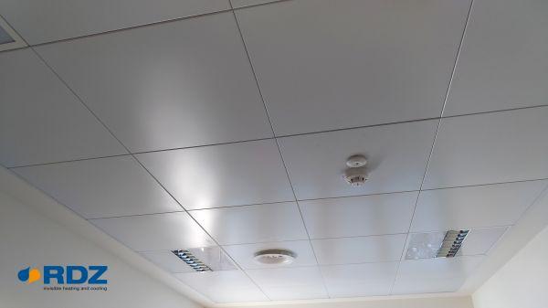 Il sistema radiante a soffitto b!klimax+ si può personalizzare