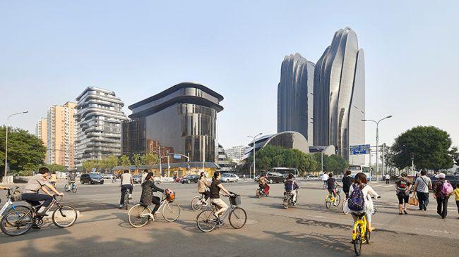 Chaoyang Park Plaza ispirato ai dipinti paesaggistici della tradizione cinese