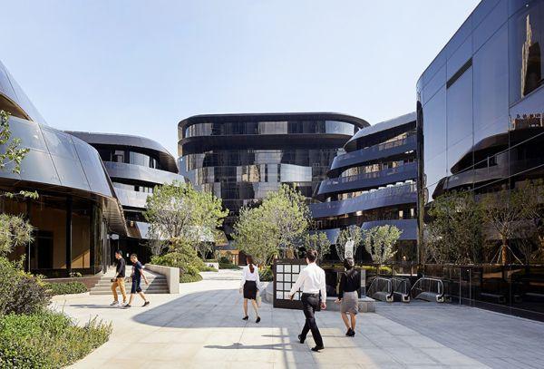 Progetto architettonico Chaoyang Park Plaza a Pechino
