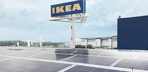 Impianto fotovoltaico dell'Ikea di Singapore con inverter ABB