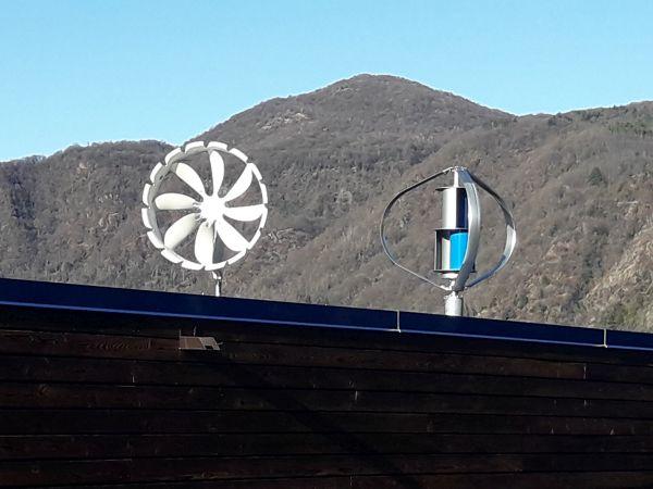Micro impianto eolico in copertura di Botel 2.0