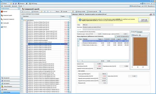 Screen Blumatica Energy_scelta componenti da archivio
